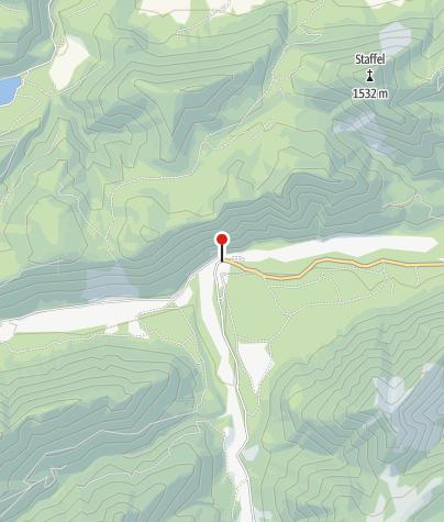 Karte / Gasthof Post in Vorderriß