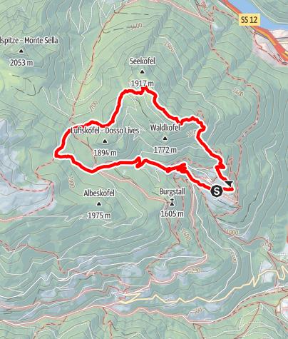 Mapa / Von Spiluck auf den Scheibenberg - Zirmait nach Spiluck