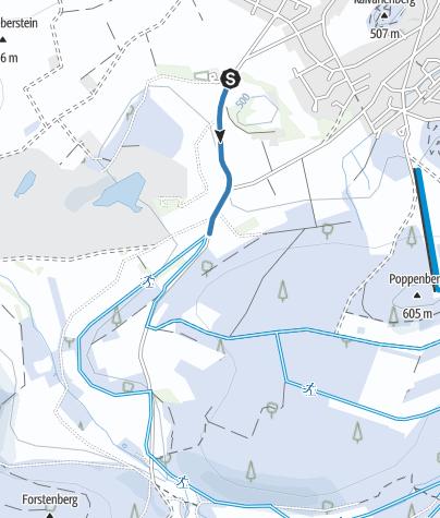 Karte / Verbindung Brilon - Hilbringseloipe