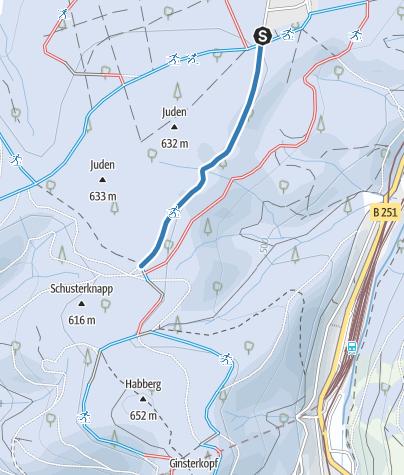 Karte / Verbindung Parkplatz - Ginsterkopfloipe