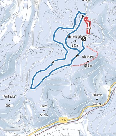 Karte / Hohe Bracht-Rundloipe