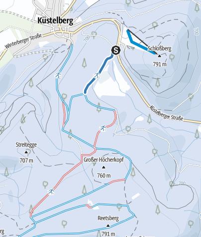 Kaart / Medebach-Küstelberg, Zubringer Schlossberg - Reetsbergspur