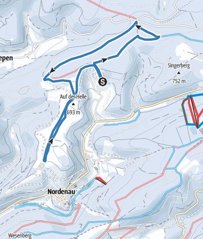 Karte / Nesselbach-Loipe