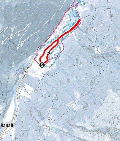 Mapa / Loipe Falbeson leicht (Nr. 5)