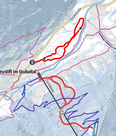 Карта / Loipe Moosrunde (Nr. 9)