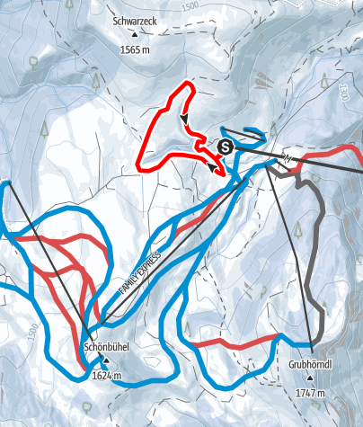 Karte / Winterwanderweg Almenwelt Lofer