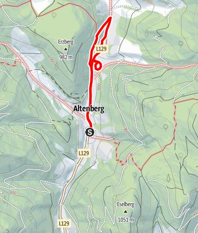 Karte / Montanrundweg zum Altenberger Erzberg im Naturpark Mürzer Oberland