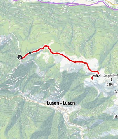 Mapa / Radausflug über die Rodenecker- Lüsner Alm
