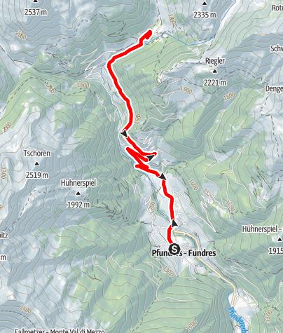 Mapa / Pfunders - Bodenalm