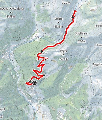 Mapa / Pfunders - Gampielalm - Kröllhütte