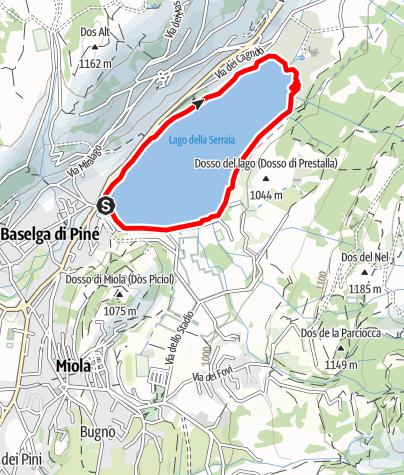 Mappa / Lago di Serraia