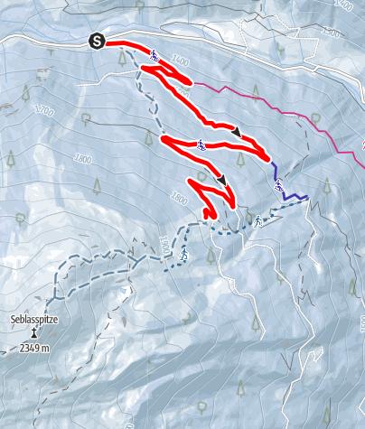 Mapa / Winterwandern: Brandstattalm (Variante 1)