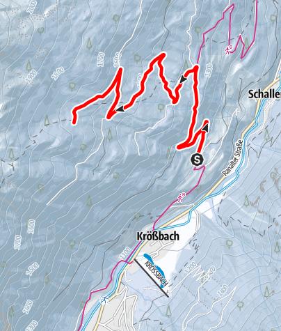 Mapa / Winterwandern: Milderaunalm (Variante 1)