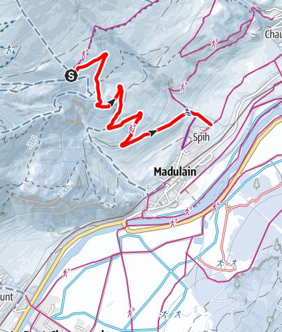 Karte / Schlittelweg Madulain
