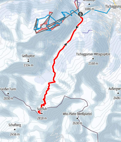 Karte / Sulzfluh 2.818 m (eintägig)