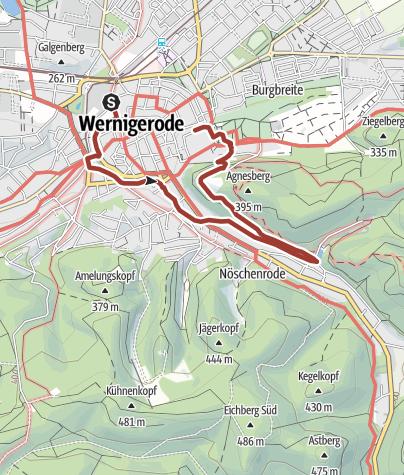 Karte / Planetenweg Wernigerode