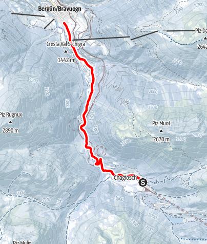 Map / Schlittelbahn Preda-Bergün