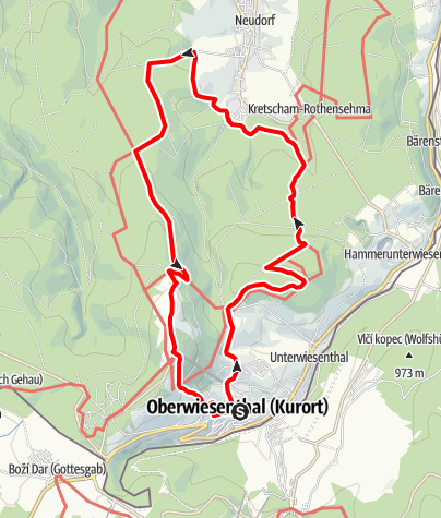 Karte / TagesTour Kammweg 20 Zwischen Oberwiesenthal und Neudorf 20km