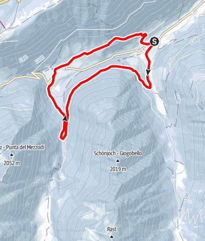 Mappa / Escursione circolare Val di Mezzo - Val di Sopra