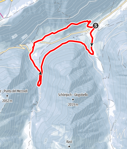 Mapa / Winterrundwanderung Mittertal - Obertal