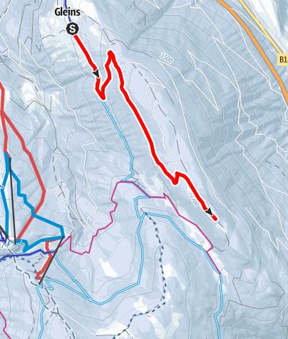 Mapa / Schneeschuhwandern Gleinserhof - Eulenwiesen