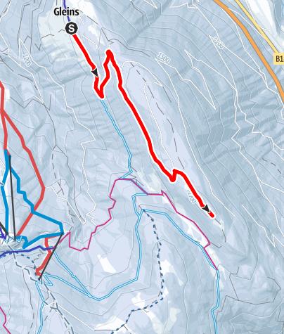 Karte / Schneeschuhwandern: Gleins - Eulenwiesen und Gleinser Mähder