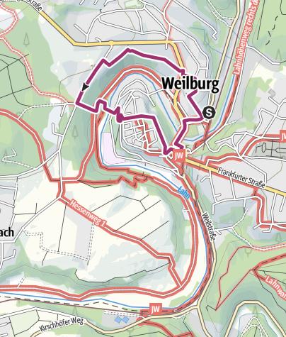 Map / Wandern in und um Weilburg