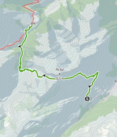Map / Fuorcla da Patnaul (Patnaulpass) 2773 m