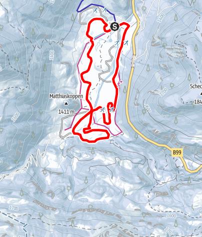 Karte / Gnadenalm Loipe (rot)