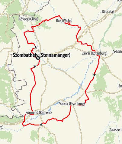 Karte / Challange von Vás - Radtour Ungarn