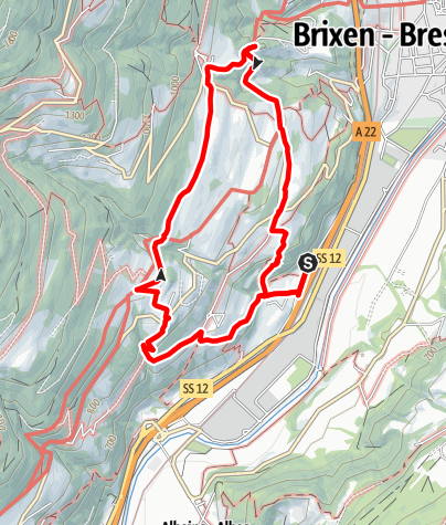 Map / Trail of the Seven Churches in Brixen