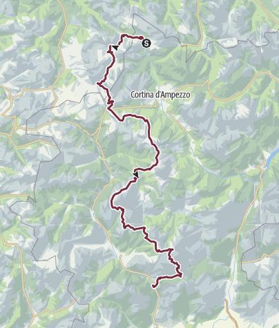 Karte / HHT8 Alta Via 1 Across the Dolomites - 7 day itinerary