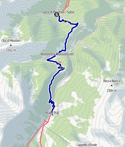 Karte / Pforzheim – Mittelmeer: 48.Etappe Salza di Pinerolo/Didiero - Rif. Lago Verde