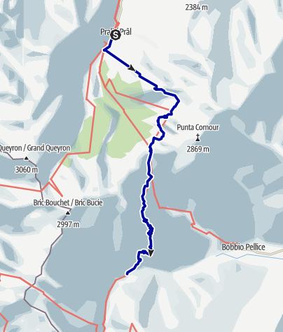 Karte / Pforzheim – Mittelmeer: 49.Etappe Rif. Lago  Verde – Rif. Jervis