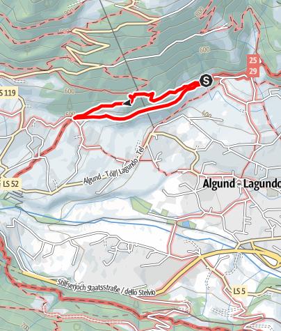 Map / Weinlehrpfad Algund