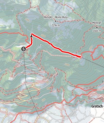 Kaart / Leiter Alm - Hochmut