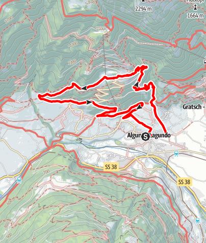 Karte / Algund - Kronsbühelweg - Grabbach - Ebeneich - Vellau