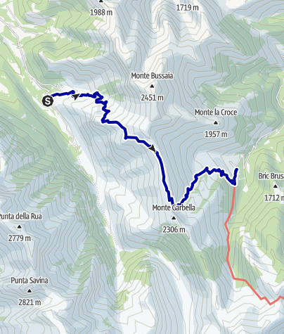 Karte / Pforzheim – Mittelmeer: 57.Etappe Rifugio Soria-Ellena – Rifugio Nicé