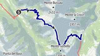 Karte / Pforzheim – Mittelmeer: 62.Etappe Trinitá – Palafré