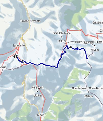 Karte / Pforzheim – Mittelmeer: 59.Etappe La Bollène-Vésubie - Sospel