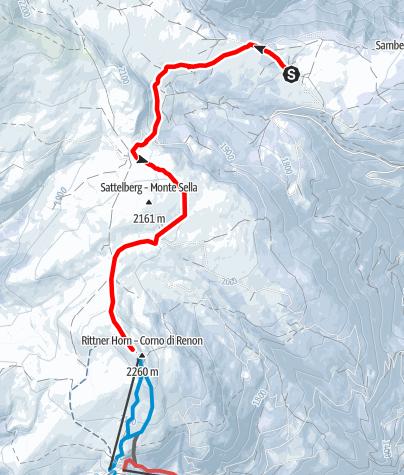 Mapa / Panoramaloipe Gasser Hütte - Rittner Horn