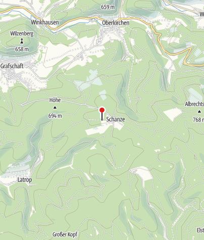 Karte / Wohnmobilstellplatz Skihütte Schanze