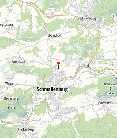 Kaart / Wohnmobilstellplatz Freizeitwelt Sauerland