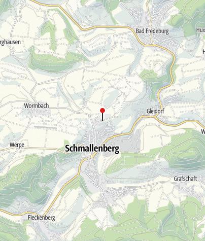 Karte / Wohnmobilstellplatz Freizeitwelt Sauerland