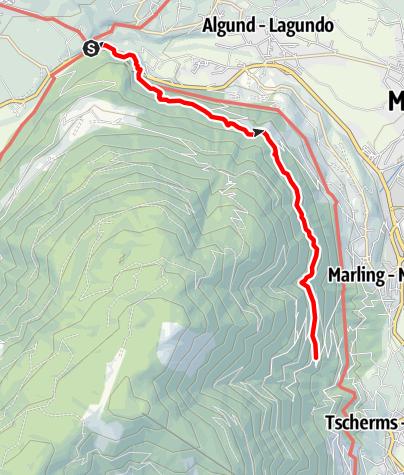 Cartina / Alta Via di Marlengo da Foresta