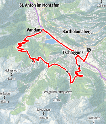 Karte / Montafon E-Bike Genusstour Rätikon 2