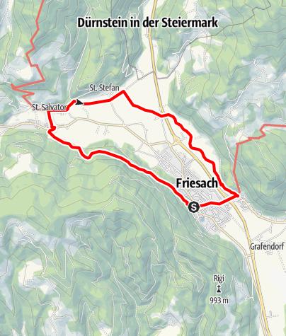 Karte / Barbarabad Rundwanderweg