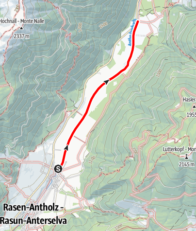 Mapa / Winterwanderung: Oberrasen - Bad Salomonsbrunn
