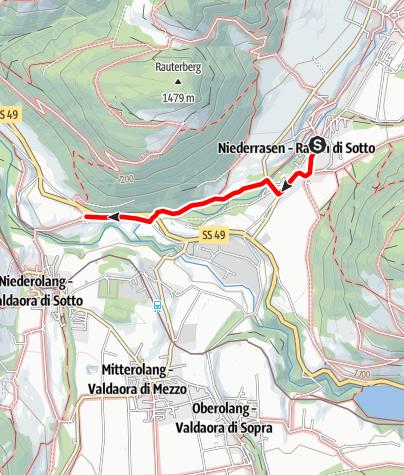 Mappa / Escursione invernale: Rasun di Sotto a Nove Case