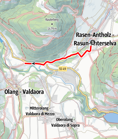 Karte / Winterwanderung: Niederrasen nach Neunhäusern